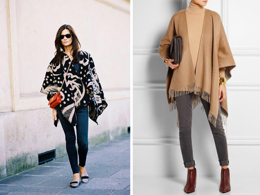 Модные пончо для женщин 96