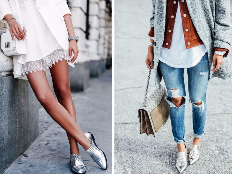 как носить серебристую обувь азбука стиля 1