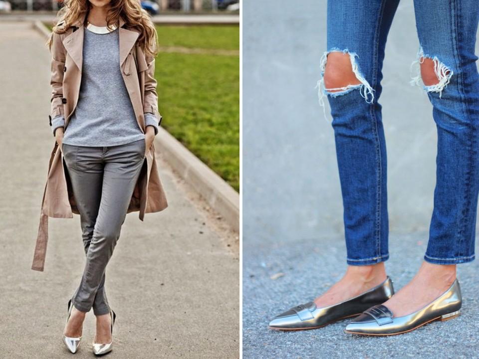 как носить серебристую обувь азбука стиля 3