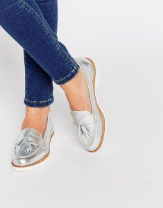 серебристая обувь asos 1