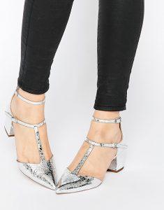 серебристая обувь asos