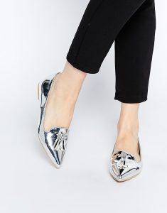 серебристая обувь asos 3