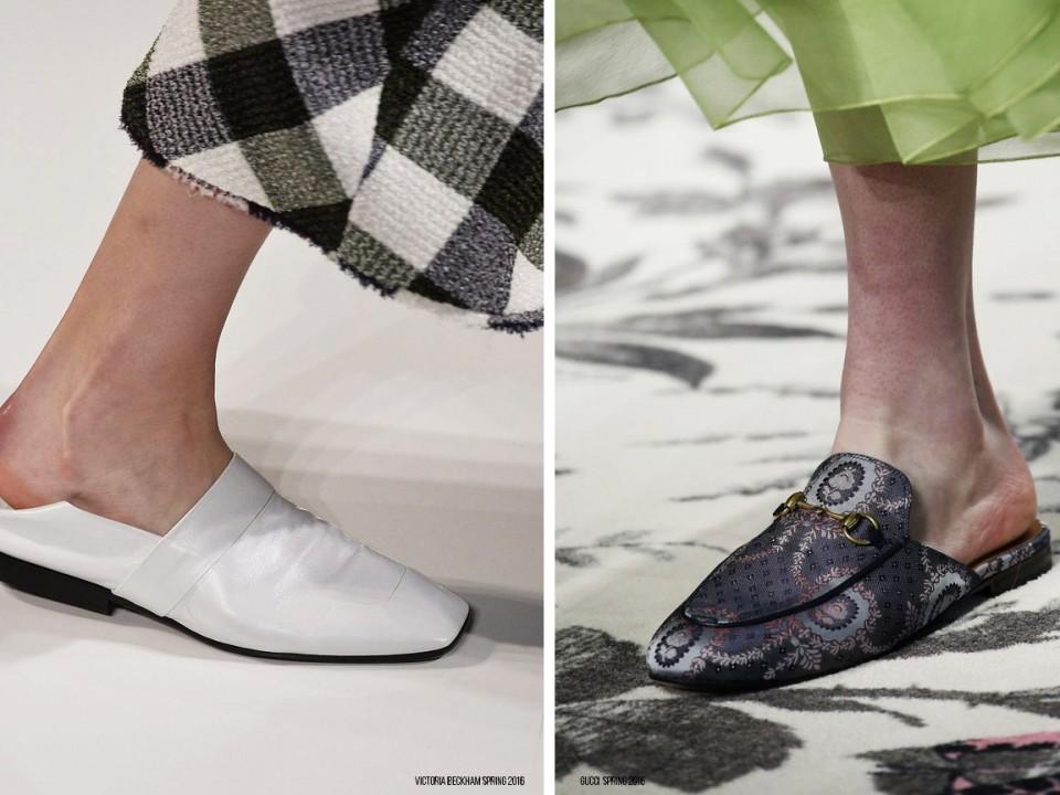 обувь тренды весна 2016 шлепки 1