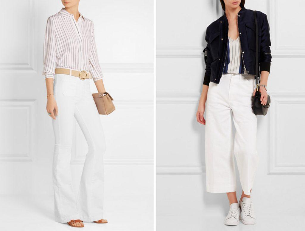 как носить белые джинсы 1