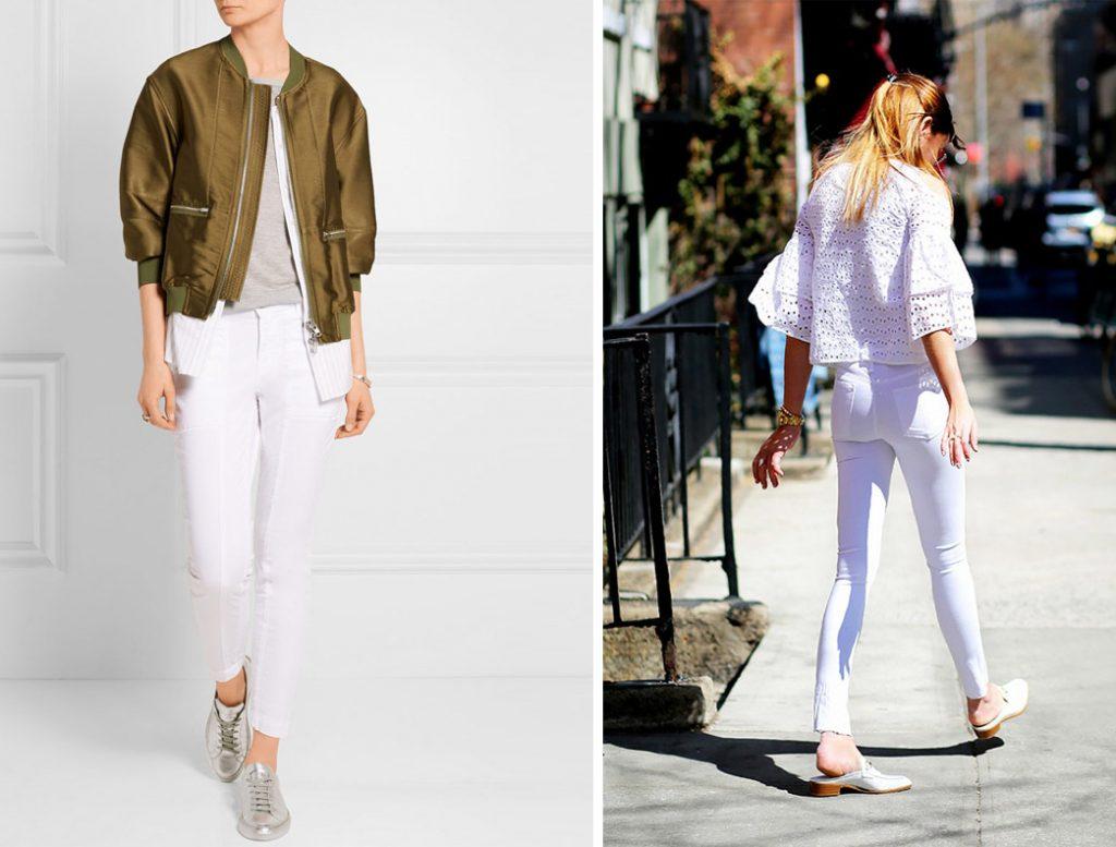 как носить белые джинсы 2