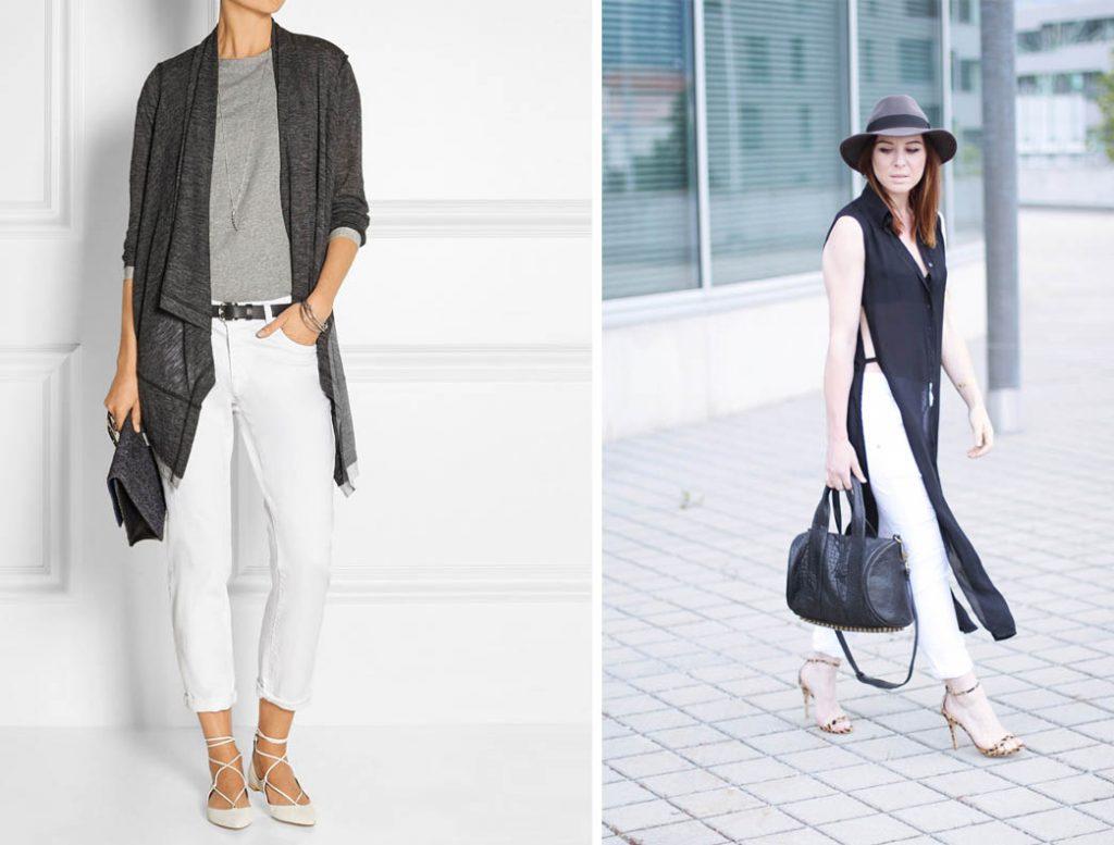 как носить белые джинсы 4