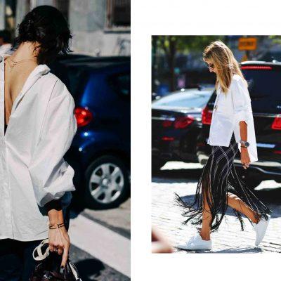 Как носить белую рубашку, версия 2017